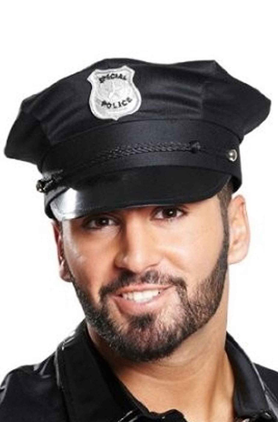 Cappello poliziotto nero taglia unica adulto