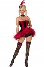 Costume donna sexy burlesque, can can o saloon girl