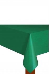Tovaglia verde in plastica cm 137x 274