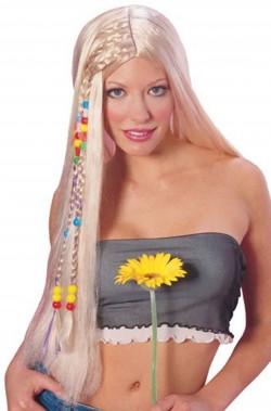 Parrucca unisex Bionda lunga Anni 70