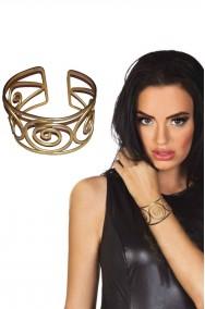 Bracciale da greca in metallo color oro 300