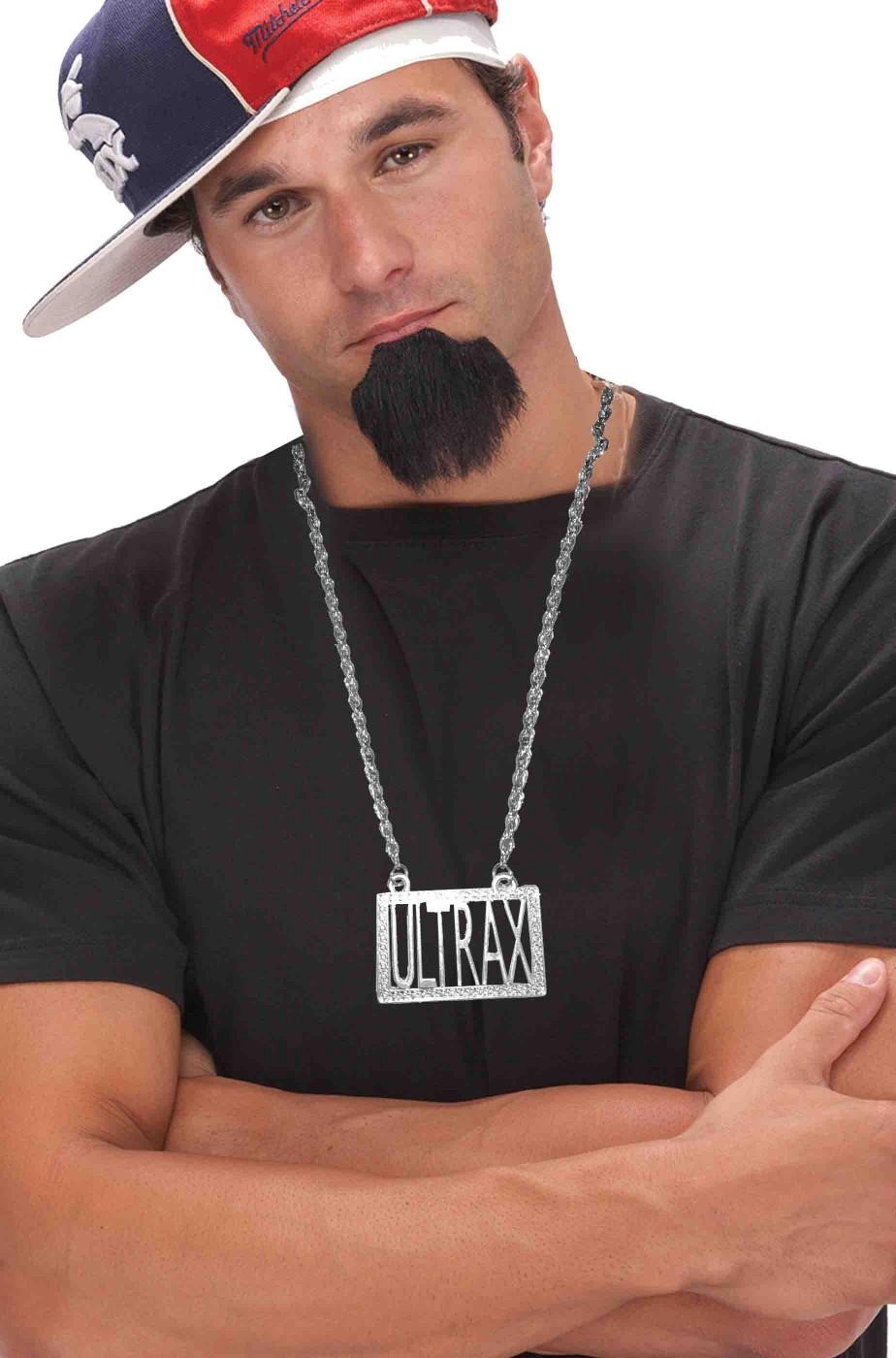 Collana pappone metallaro rapper disco con scritta Ultrax in metallo