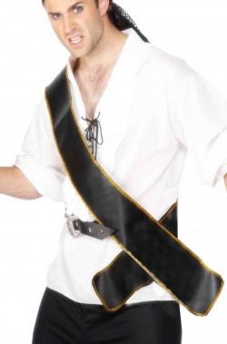 Cinturone a bandoliera da pirata in tessuto