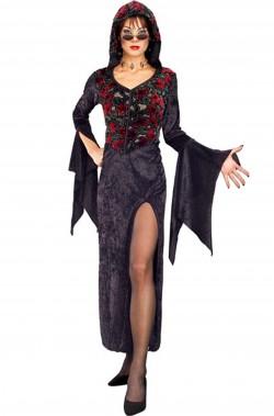 Costume dama medievale donna adulta maga, elfa celtica,