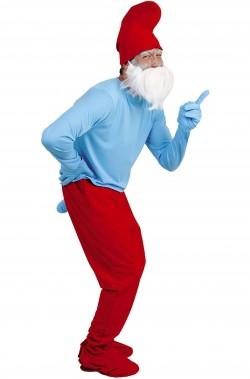 Costume carnevale adulto Grande Puffo