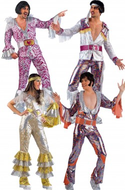 Gruppo di Costumi anni 70 Cugini di campagna Mamma Mia