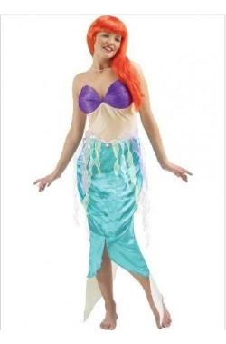 Costume carnevale adulta Ariel La Sirenetta Disney