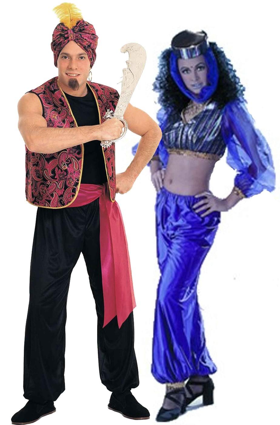 Coppia di costumi Costume Sandokan o Aladino e Odalisca o jasmine o Perla di Labuan