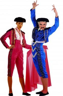 Coppia di costumi da toreri uomo e donna