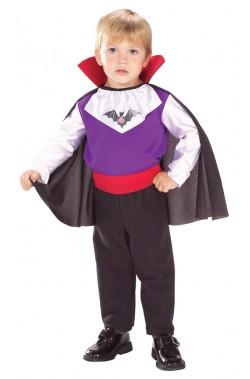 Costume carnevale bambino vampiro vittoriano con mantello