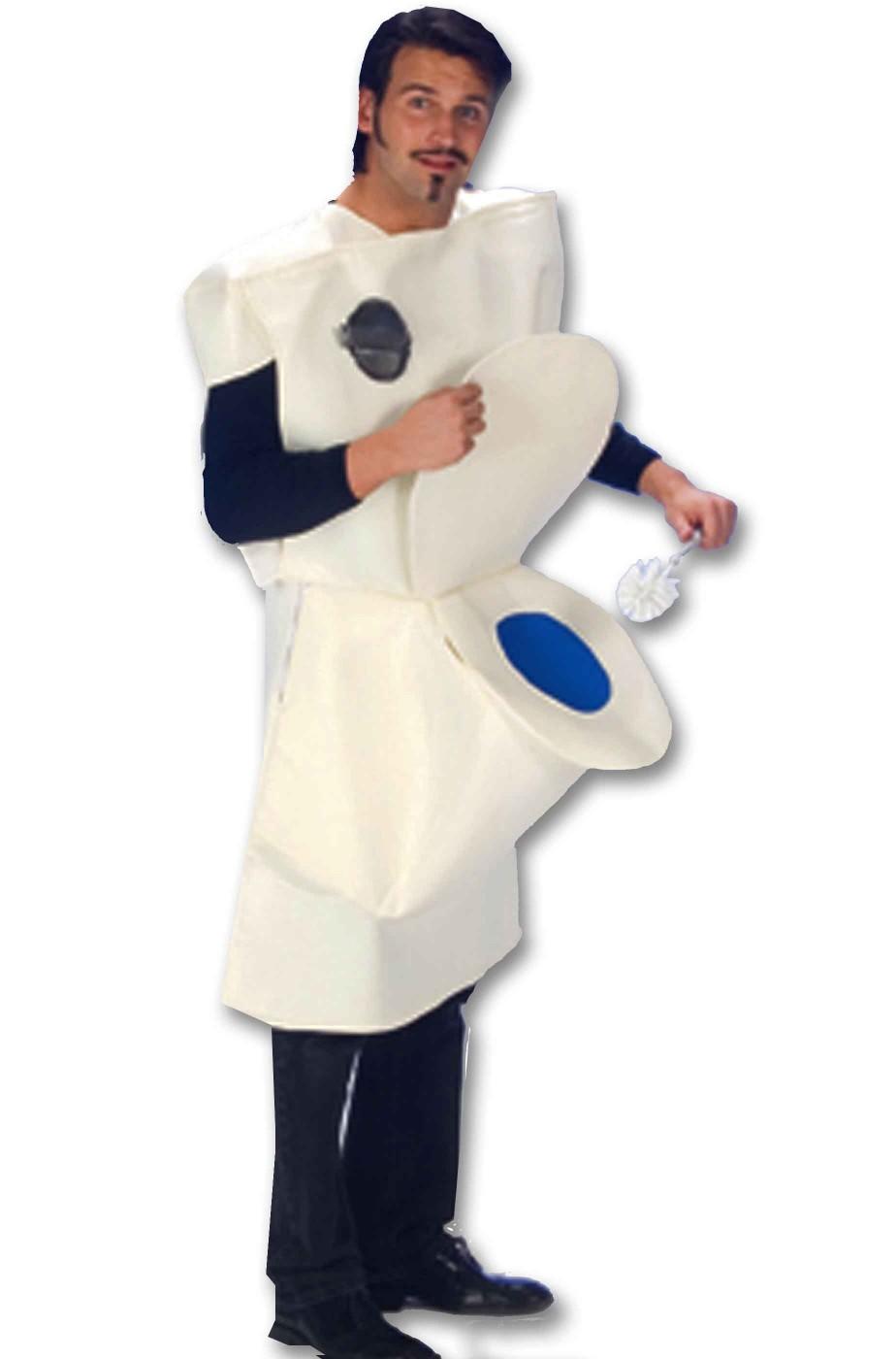 Vestito di carnevale da cesso o da gabinetto da adulto con sciacquone c33ab54cfd88