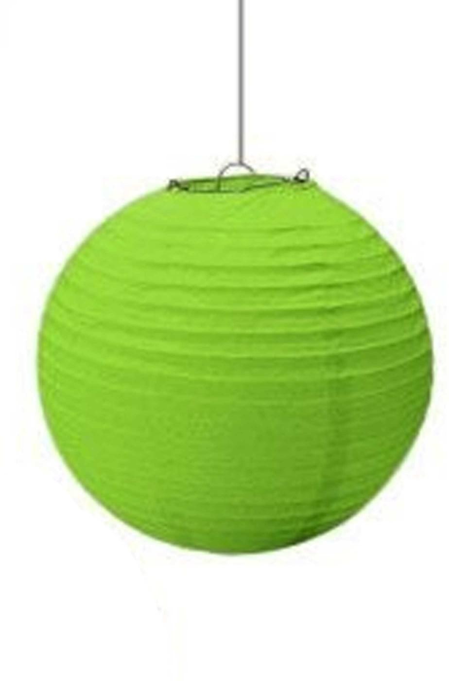 Lanterna in carta verde