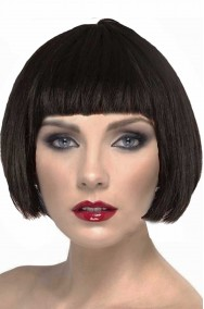 Parrucca donna nera corta anni 20 a caschetto