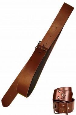 Cintura cinturone in cuoio marrone medievale con fibbia e borchie