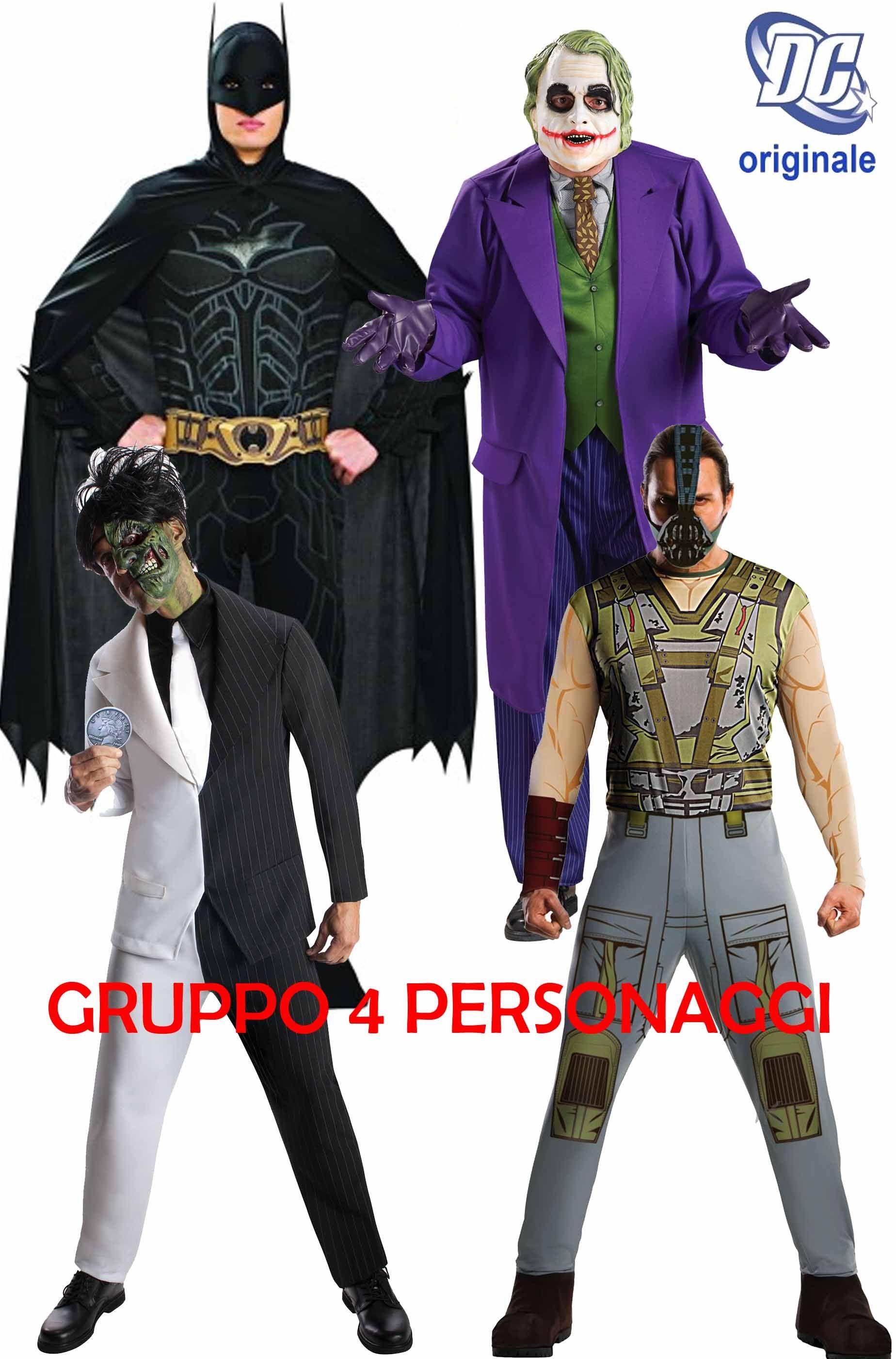 Costumi Halloween Di Gruppo.Gruppo 4 Costumi Batman Ed I Suoi Avversari