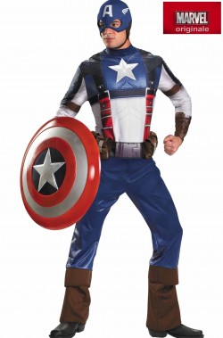 Costume Capitan America Adulto De Luxe CIVIL WAR