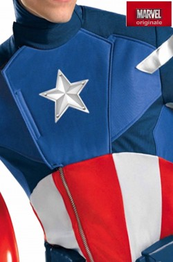 Costume Capitan America modello Elite Adulto Replica del Film The Avengers