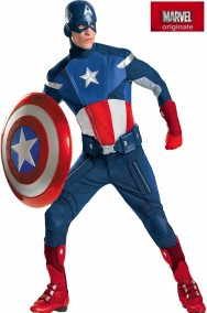 Costume Capitan America modello Elite Adulto Replica del Film The Avengers
