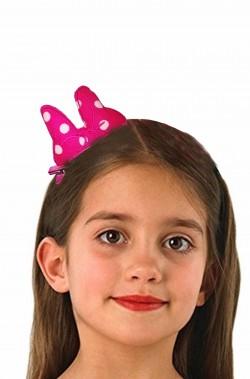 Fiocco a pois Minnie mouse con fermaglio per capelli colore rosa