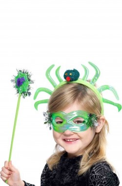 kit ragno include maschera cerchietto bacchetta