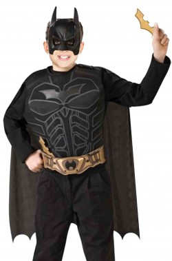 Set Batman con mantello, maschera, batarangs