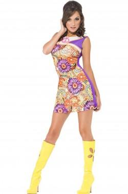 costume donna sexy anni 60 Include vestito