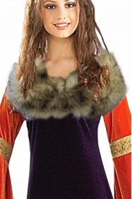 Mantella mantellina coprispalle collo di pelliccia sintetica