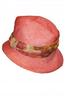 Cappello da donna Cloche anni 20 anni 40 in paglia con fascia