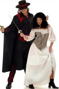 Coppia di Costumi di Carnevale La Maschera di Zorro
