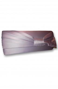 Borsa o borsetta pochette anna cecere grigio perla