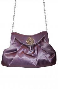 Borsa o borsetta pochette grigia con cameo
