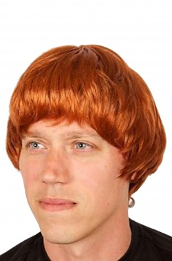Parrucca Uomo rossa corta da Beatles Ringo o John