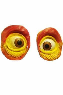 Grandi occhi in lattice per scenografie, Totem, maschere