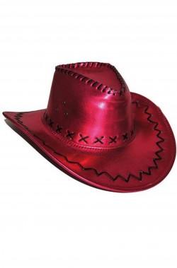 Cappello cowboy similpelle rosa