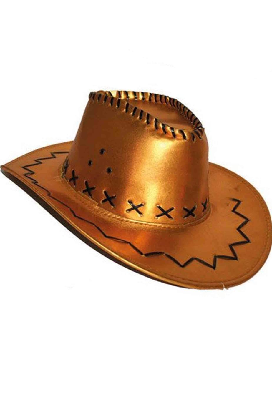 Cappello cowboy similpelle lame'