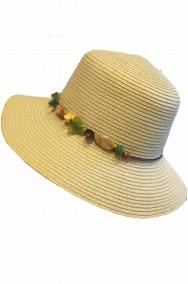 Cappello donna a cloche in paglia beige anni 60