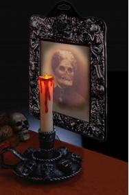 Allestimenti per decorazioni Halloween da interno candelabro e vecchia morta