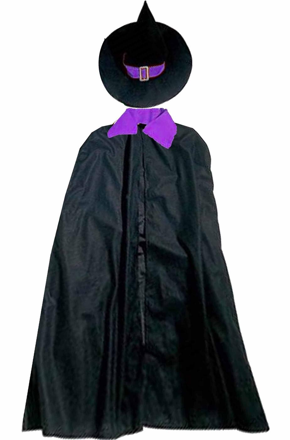 Mantella e cappello da strega donna adulta per costume di Halloween 8b6c67052b8e