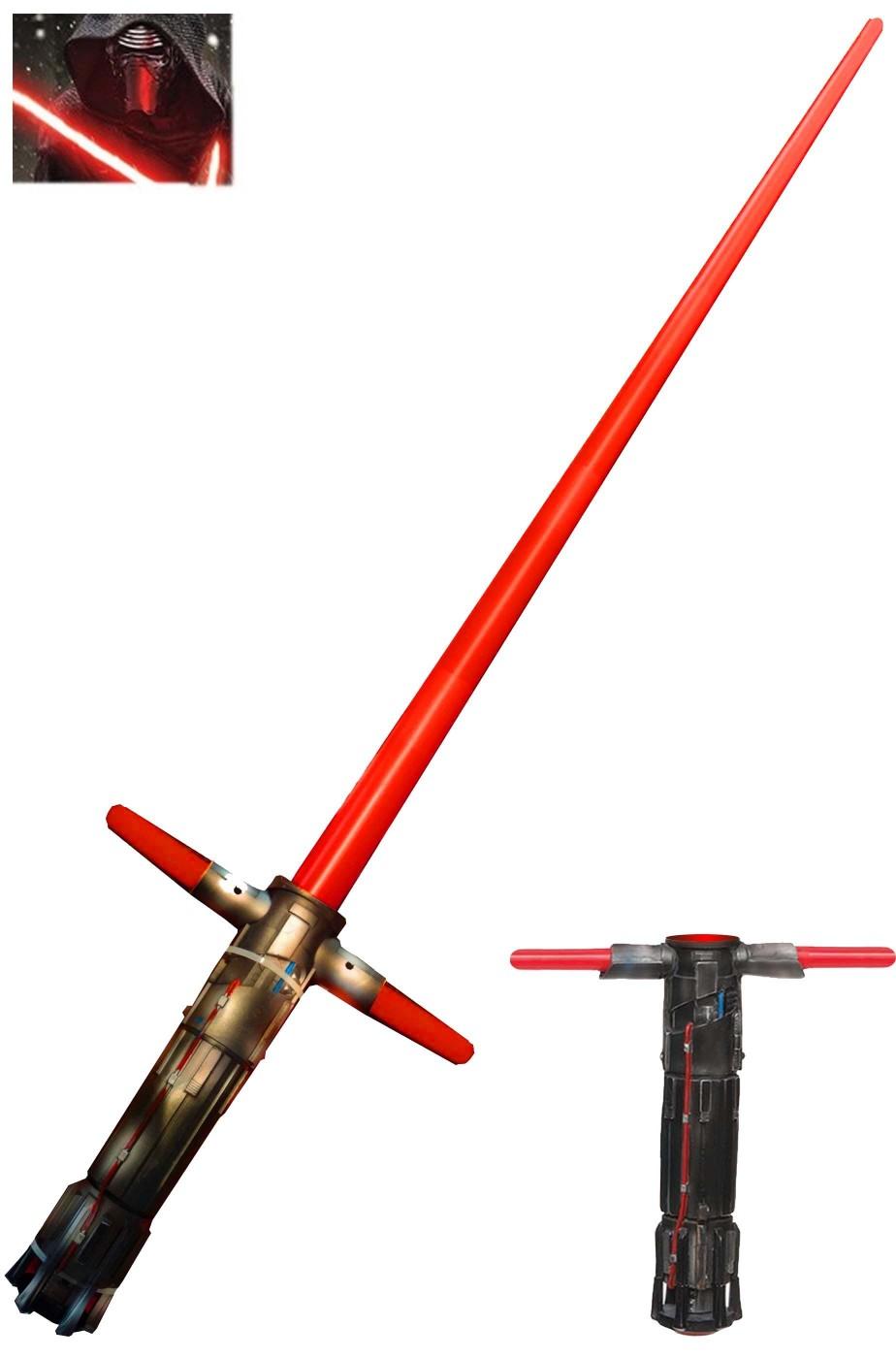 Spada Laser Adulto Kylo Ren a croce a X originale Star Wars gli ultimi Jedi
