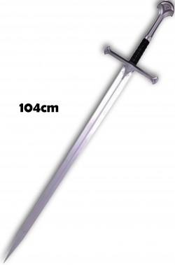 Spada medievale lunga in plastica da crociato cm104