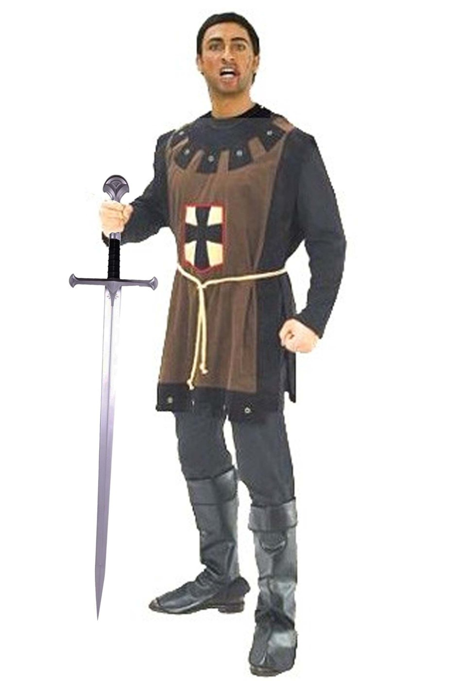 Costume uomo medievale con tunica a tabarda - CarnivalHalloween.com d764ba39812b