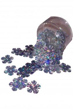 Paillettes o perline argento multicolore madreperlato a fiocco di neve