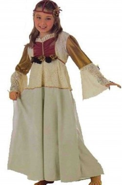 Costume carnevale Bambina Principessa De Luxe
