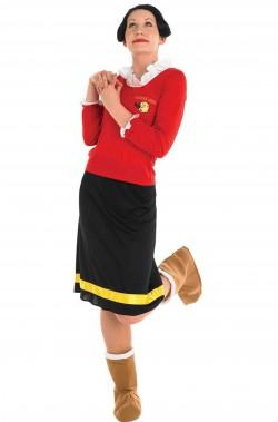 Costume di carnevale donna Olivia di Braccio di Ferro