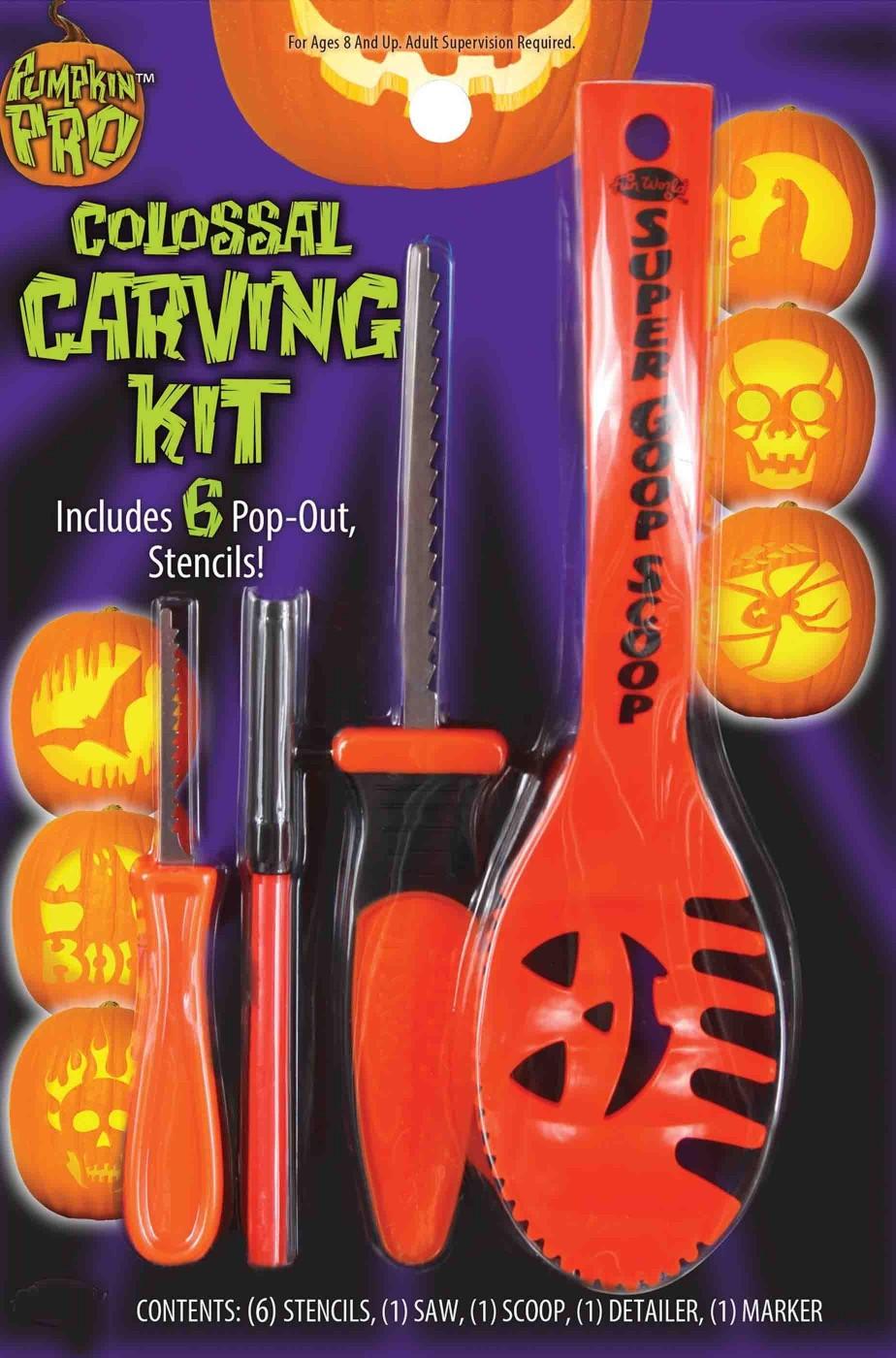 Set o kit di posate per intagliare la zucca ad Halloween
