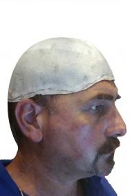 Calotta in lattice spessa parrucca da calvo pelata bianca