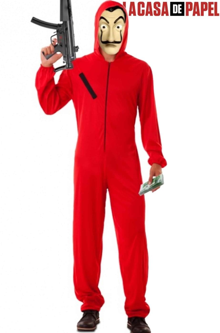 Costume rapinatore della Casa di Carta Netflix adulto