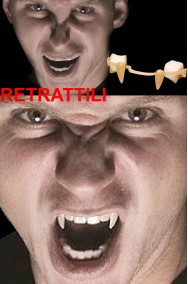 Denti vampiro canini retrattili