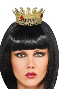 Corona oro in metallo da regina diametro 7 cm