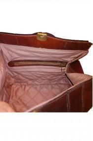 Borsa o Borsetta a bauletto in cuoio vintage originale